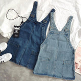 Women'S Loose Denim Strap Dress Overalls