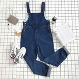 Women'S Pocket Denim Bib Overalls