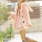 Cute rabbit ears hooded jacket