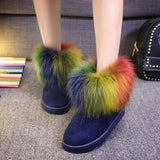 Fashion round head snow boots Flat shoes