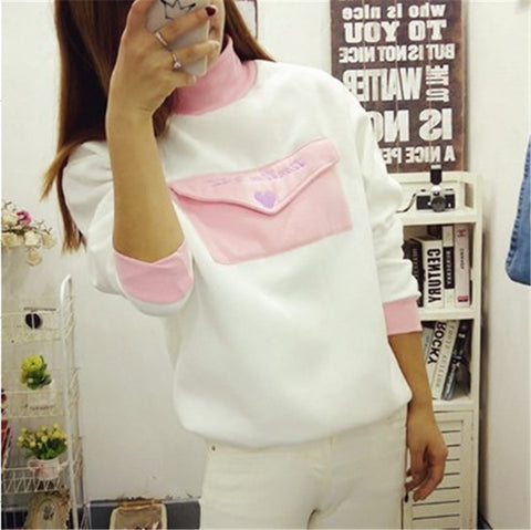 Fashion envelope turtleneck sweater