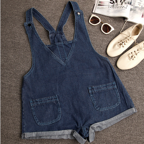 Strap Buttons Fashion Denim Romper jumpsuit