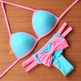 Cute Bow Hollow Bikini Set Swimsuit Swimwear
