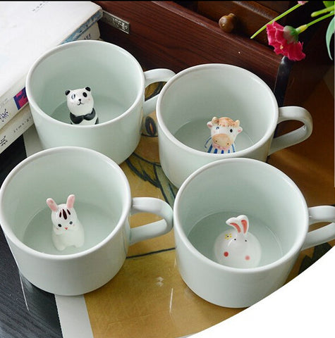 Creative cute animal cup gift cup