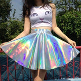 Fashion multicolor high waist skirts