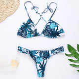 Fashion print triangle Bikini Swimsuit Swimwear