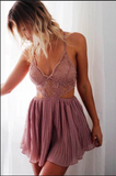 Hollow Out Lace Irregular Backless Halter Skirt