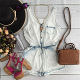 Fashion Sling Sleeveless Pocket Jumpsuit
