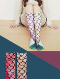 Mermaid Pattern Bottoming Women Socks