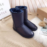 Ugg Hot Seller Of Stylish, Solid-colored Mid-leg Women's Casual Uggs With Wool Boots Shoes