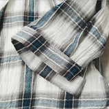 Women'S Lapel Button Plaid Shirt
