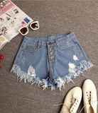 Tassel Ripped High Waist Shorts