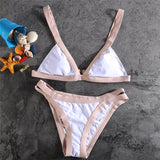Hollow Strap Multicolor Beach Bikini Set Swimsuit Swimwear