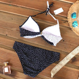 Sexy Push Up Bikinis Set Swimwear Women Swimsuits Bathing Suit Women Halter Leaf Print Beach Wear Bikini