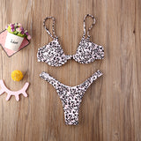 Sexy Women Push-up Leopard Print Bikini Set Swimwear Padded Bra Swimsuit Beach Wear Bathing Suit