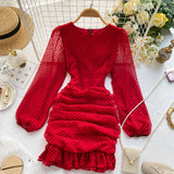 Fashion Women's Clothing Ruffled Dress Dresses Dress