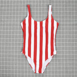 Sexy Womens One Piece Push Up Padded Monokini Beach Striped Backless Swimwear Swimsuit Bikini Bathing Suits Beachwear