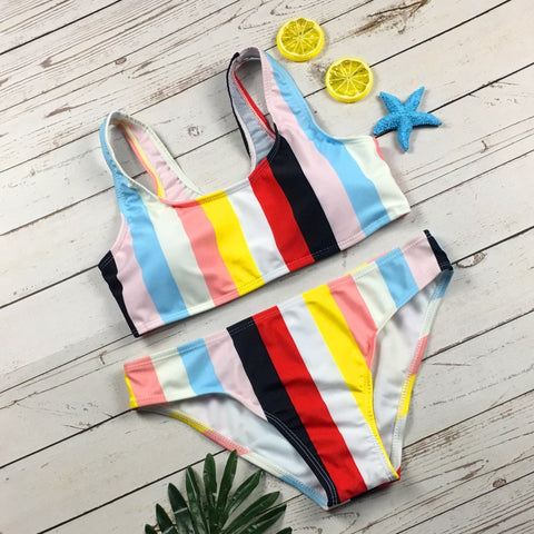 Bikini Set Women Swimwear Hot Stripes Push Up Padded Swimsuit Women Bathing Suit Beachwear Biquini