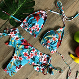 Sexy Bikinis Swimwear Women Swimsuit Bandage Halter Beach Wear Push Up Bathing Suits Female Bikini Set