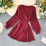 Fashion Women's Dress V-neck Dresses Dress
