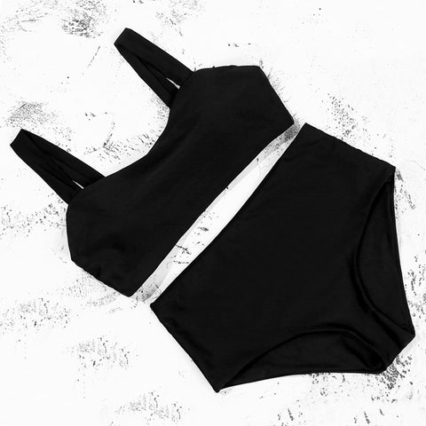 Bikinis Wide Straps Push Up Bikini Padded High Waist Swimsuit Female Sexy Swimwear Women Biquini