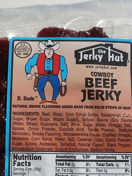 Jerky Hut | Old-Fashioned Smoked (Cowboy) -- (8 oz) - The Jerky Hut online