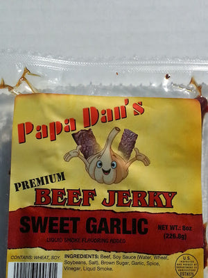 Papa Dan's | Sweet/Garlic/Hot - (Flat Cut) -- (8 oz) - The Jerky Hut online