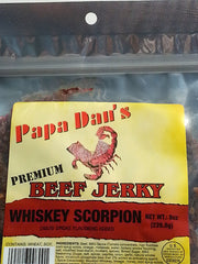 Papa Dan's Whiskey Scorpion Pepper (Flat Cut) -- (8 oz)