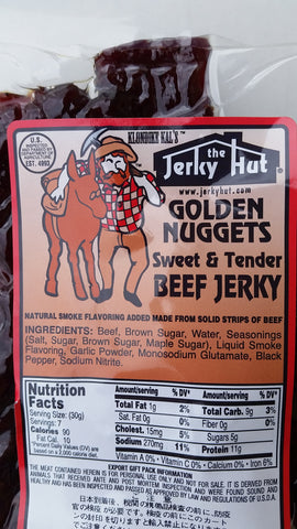 Jerky Hut | Golden Nugget (Sweet and Tender) -- (8 oz)