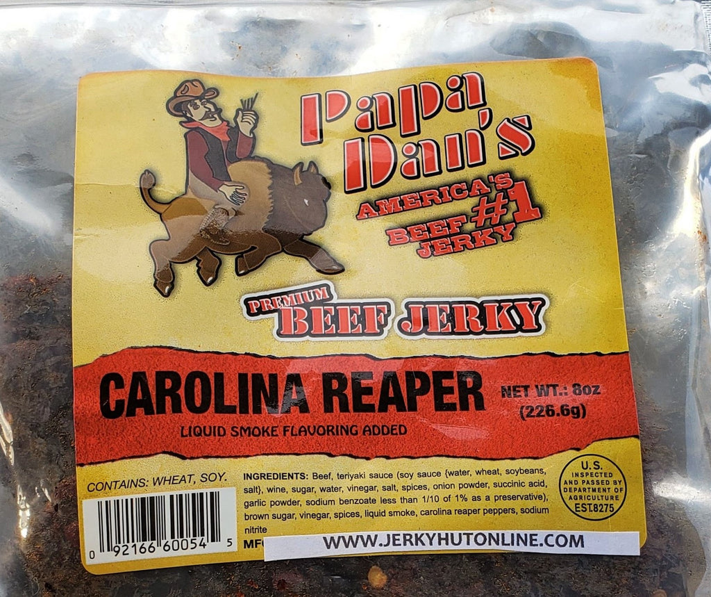 Papa Dan's Carolina Reaper, (Thin-cut) World's Hottest Pepper - The Jerky Hut online