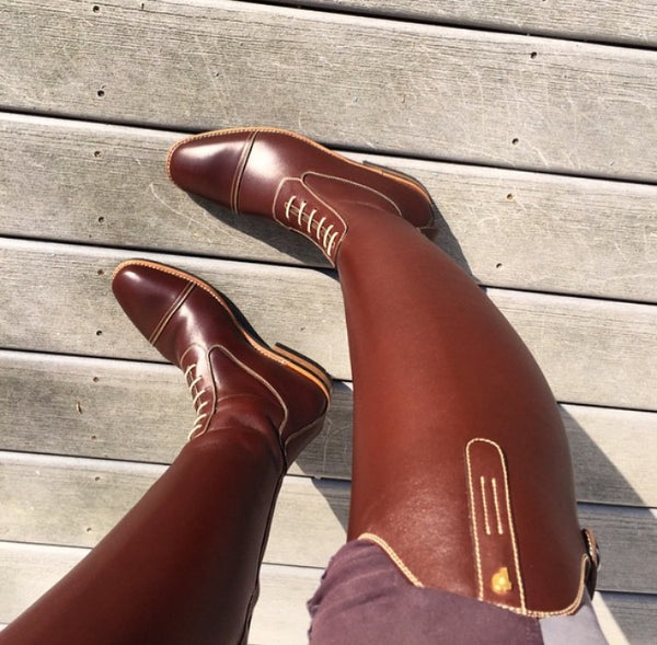 petrie, riding boots, dressage, brown boots, brown riding boots, brown field boots, equestrian style