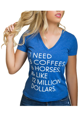 "The ""I Need"" Equestrian Tee - Blue Tri-Blend - 20x60"