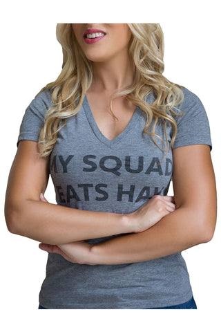 My Squad Eats Hay Tee - Heather Grey Tri-Blend - 20x60  - 1