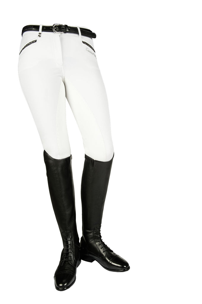 Cavallino Marino Silver Stream Full Seat Breeches with Crystals - 20x60  - 7