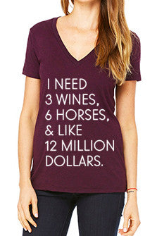 "The ""I Need"" Wine Tee - Ametheyst Tri-Blend - 20x60"