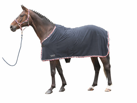 HKM Rose Collection Fleece Cooler - Deep Blue or Red/Grey - 20x60  - 1