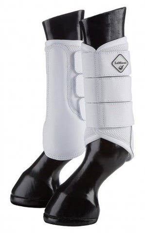 LeMieux Mesh Brushing Boot - White - 20x60  - 1