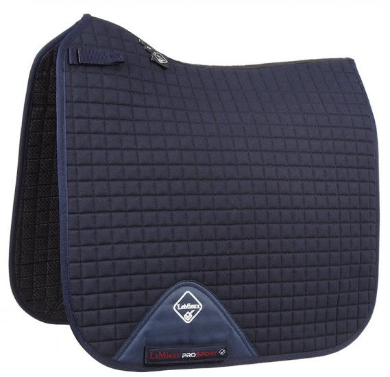 LeMieux ProSport Cotton Dressage Pad - Navy (Short Straps) - 20x60