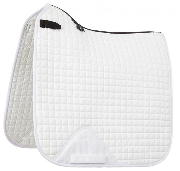 LeMieux ProSport Cotton Dressage Pad - White (Short Straps) - 20x60