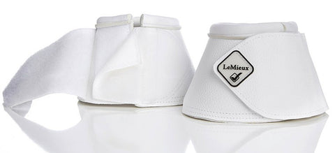 LeMieux Leather WrapRound Bell Boots - White - 20x60