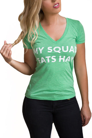 My Squad Eats Hay Tee - Green Tri-Blend - 20x60  - 1