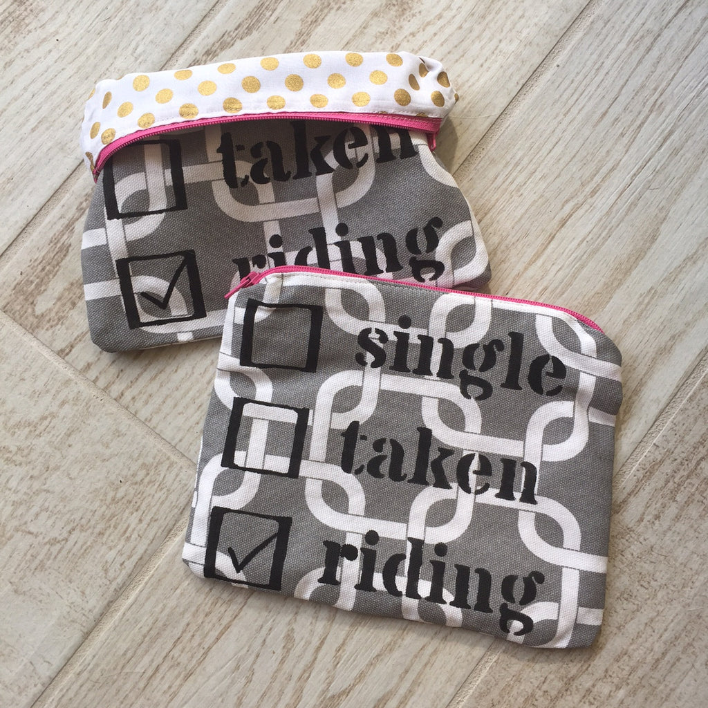 "Single Taken Riding ""Everything You Need"" Zipper Bag - 20x60"
