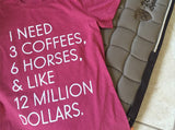 "The ""I Need"" Equestrian Tee - Pink Tri-Blend - 20x60  - 2"