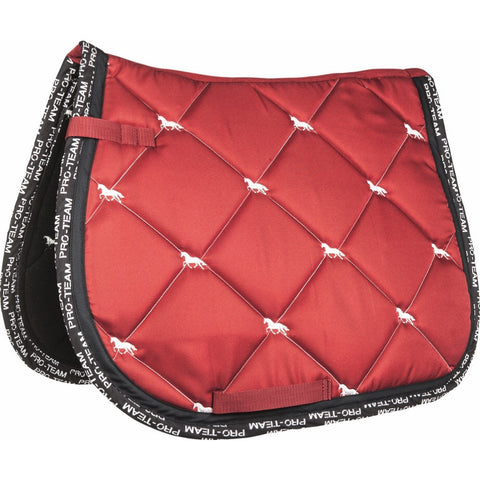 HKM Pro-Team Saddle Pad - Red/White - 20x60