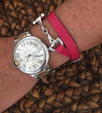 Double-Wrap Leather Bit Bracelet - 20x60  - 2