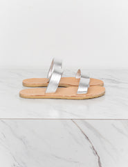 Nell Slide - Metallic Silver