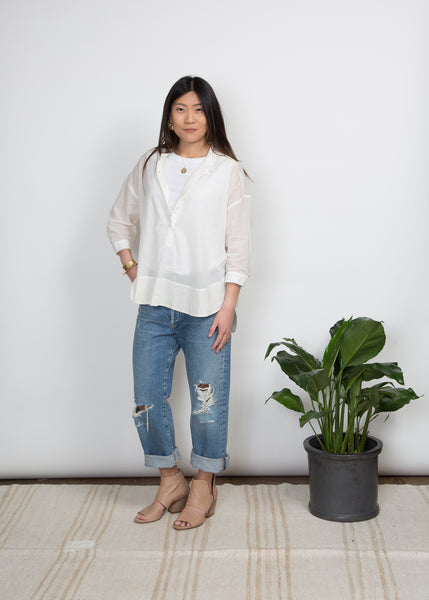Mercy Top- Ivory Voile