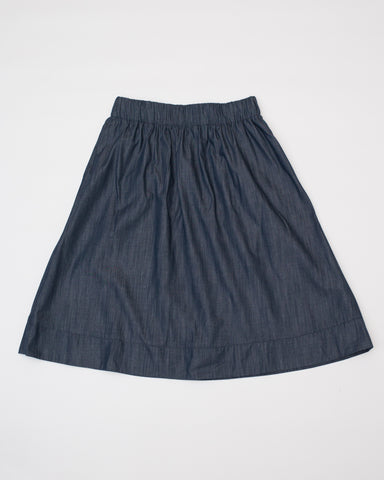Alex Skirt -Dark Chambray