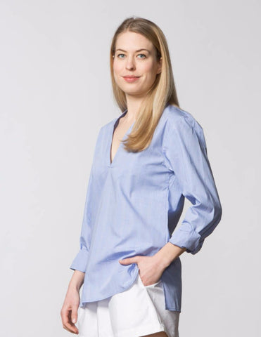 Carol Top - Blue Solomon Plaid