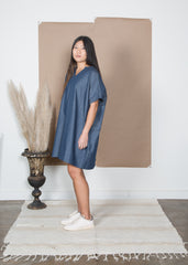 Mary Dress - Chambray Dot